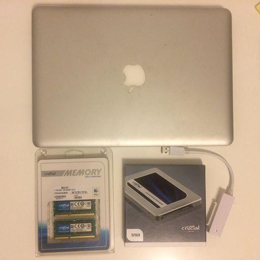 2009 맥북프로 램, SSD 업그레이드
