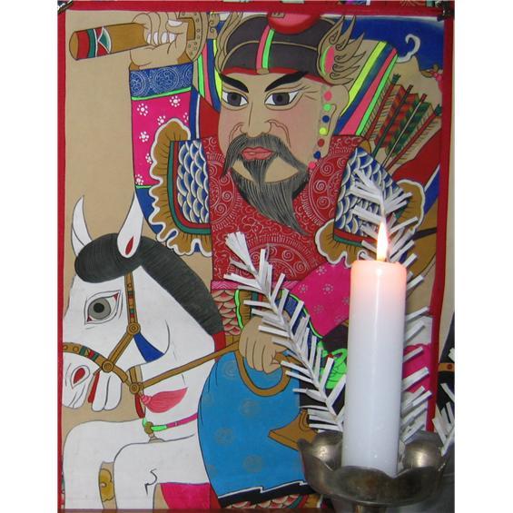 용마를 탄 장군신-백마신장