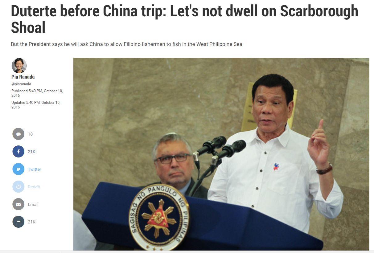 [필리핀]두테르테,남중국해를 중국에 넘길 것인가?