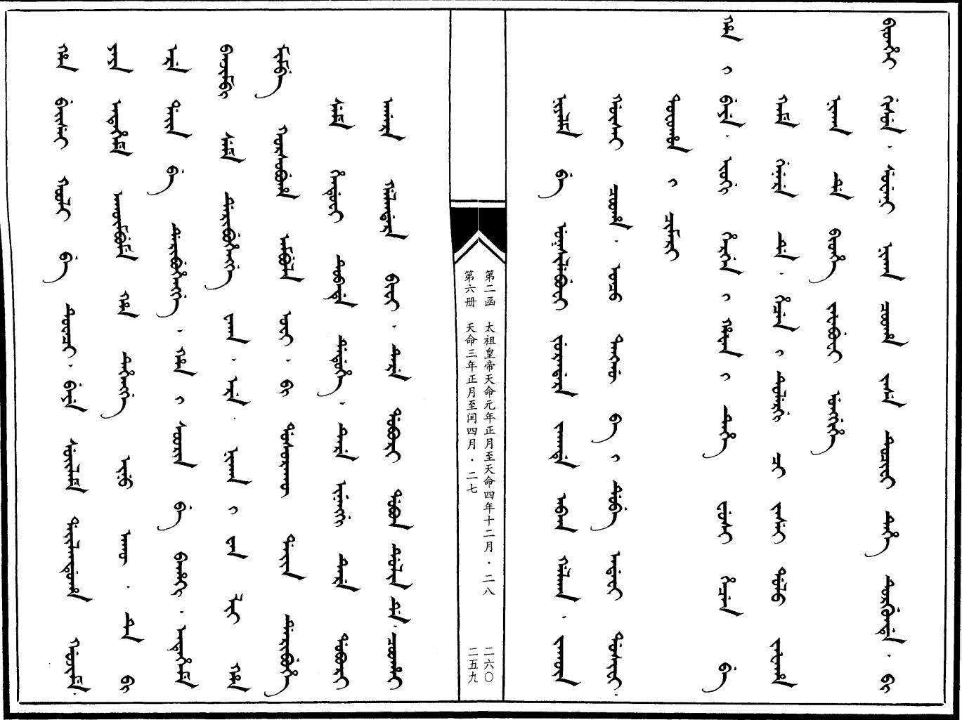 만주어 만문노당 123부-팔기군 무순성을 포위하다!