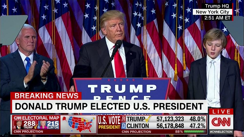 트럼프 당선이 확정되었습니다.