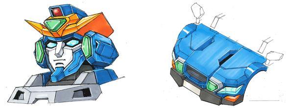 승용차로 완전 변형이 가능한 인형 로봇 사업화 계획..