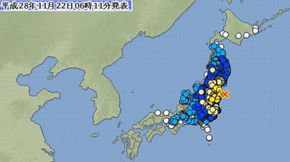 5시59분 일본 후쿠시마 7.3 강진