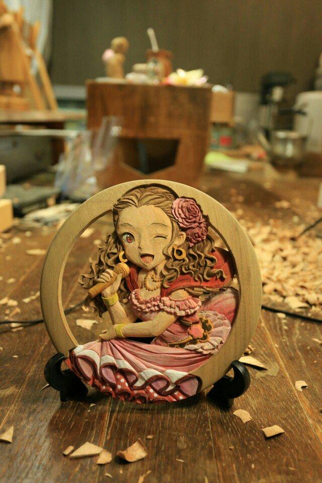 2차원 캐릭의『판목 조각』을 만든 재능 있는 오타쿠..