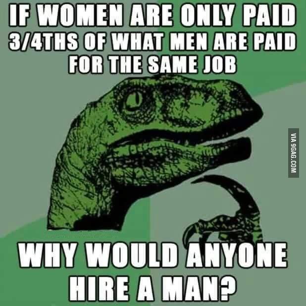 여성이 동일 직업에서 남성보다 낮은 임금을 받는다면..