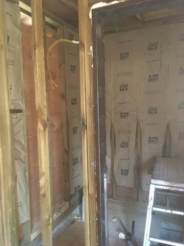 인슐레이션 작업, 천장 합판작업, 바닥 보일러 배..