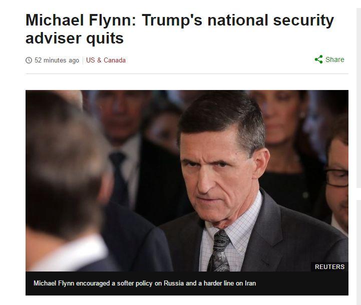 [트럼프] 마이클 플린 사퇴에 대해서...ㅠ