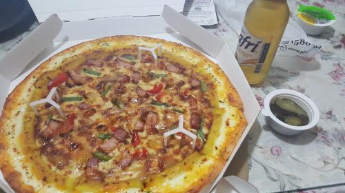혼자 피자한판먹은날