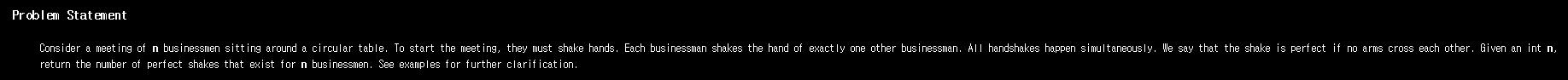 [TopCoder] 악수(HandShaking) 분석 및..