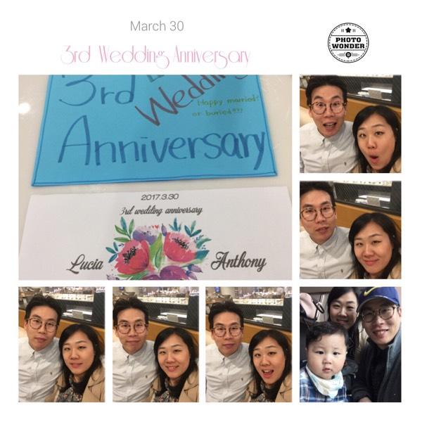 3rd Wedding Anniversary:)