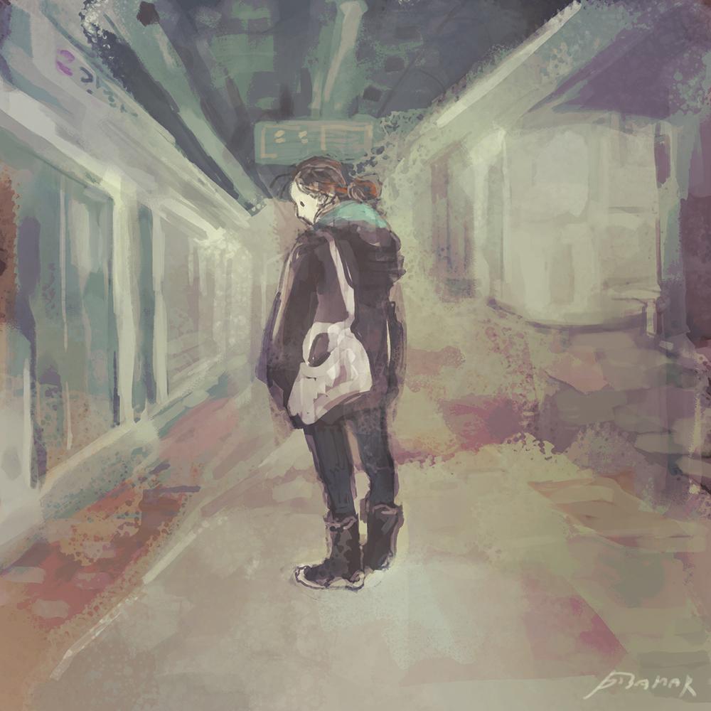 지하철을 기다리는 일.