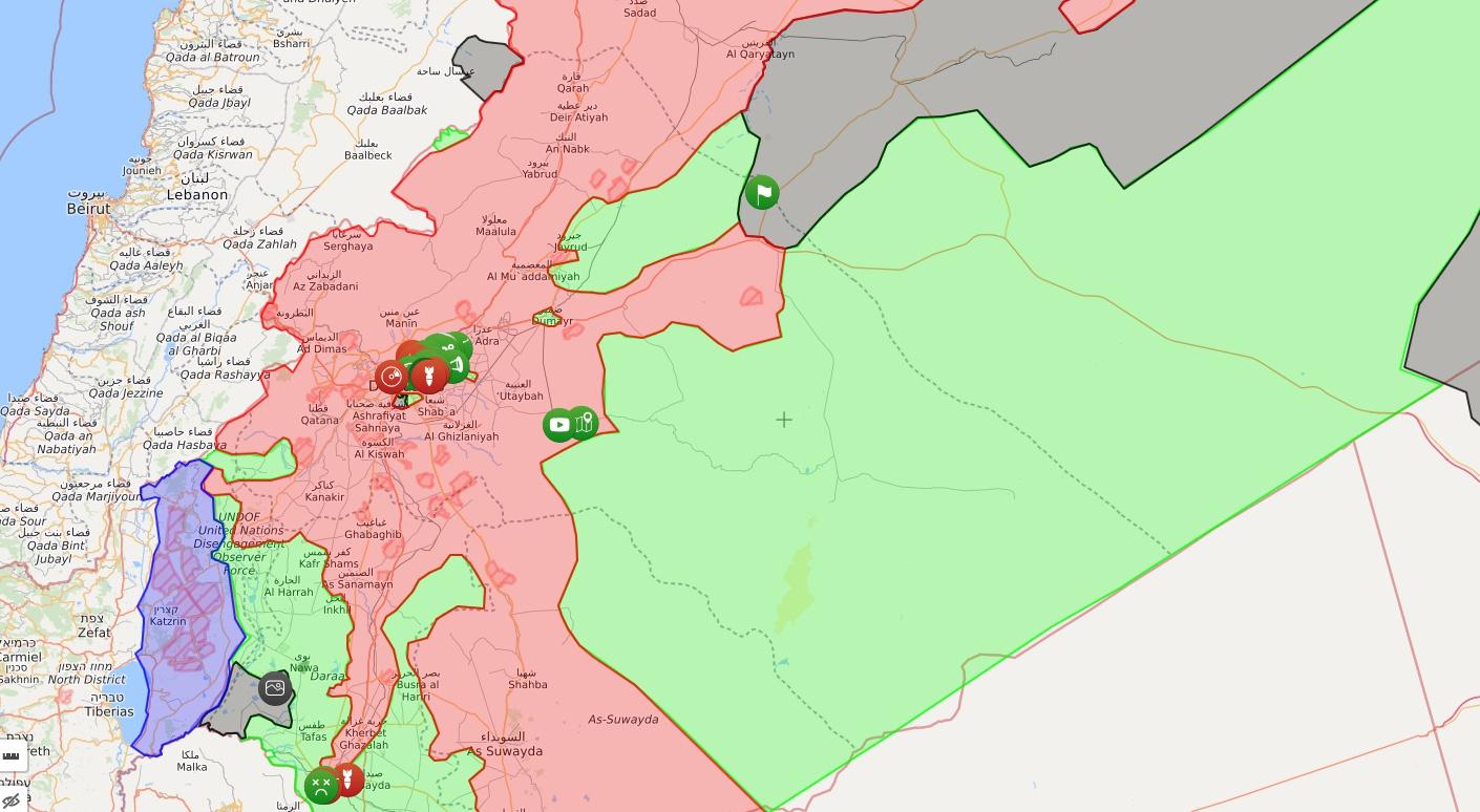 시리아 정부군 동남부 사막지대 쾌진격