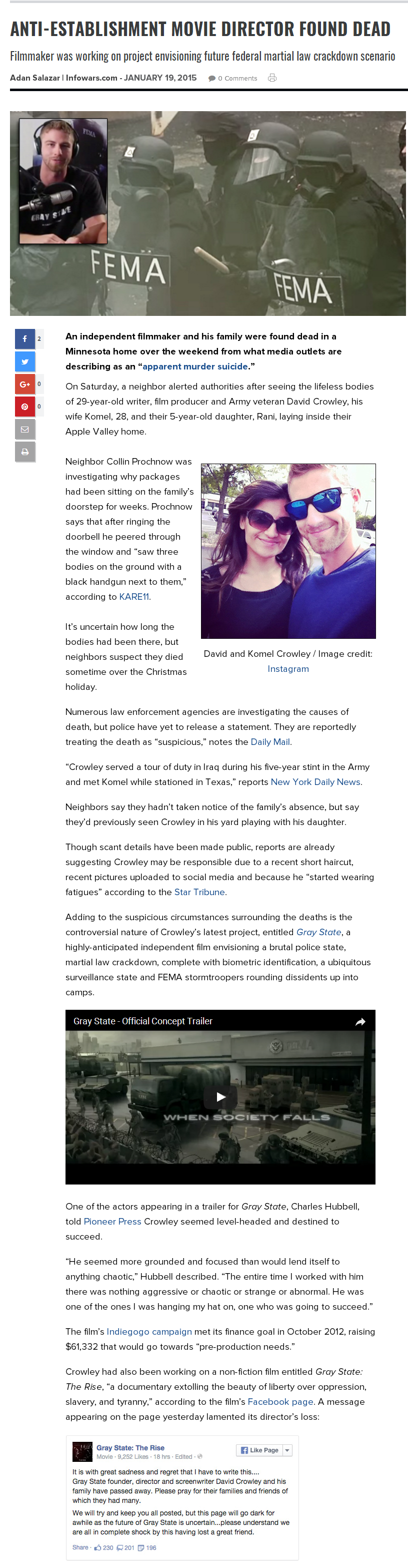 그레이 스테이트GRAY STATE감독 DAVID CROWLE..