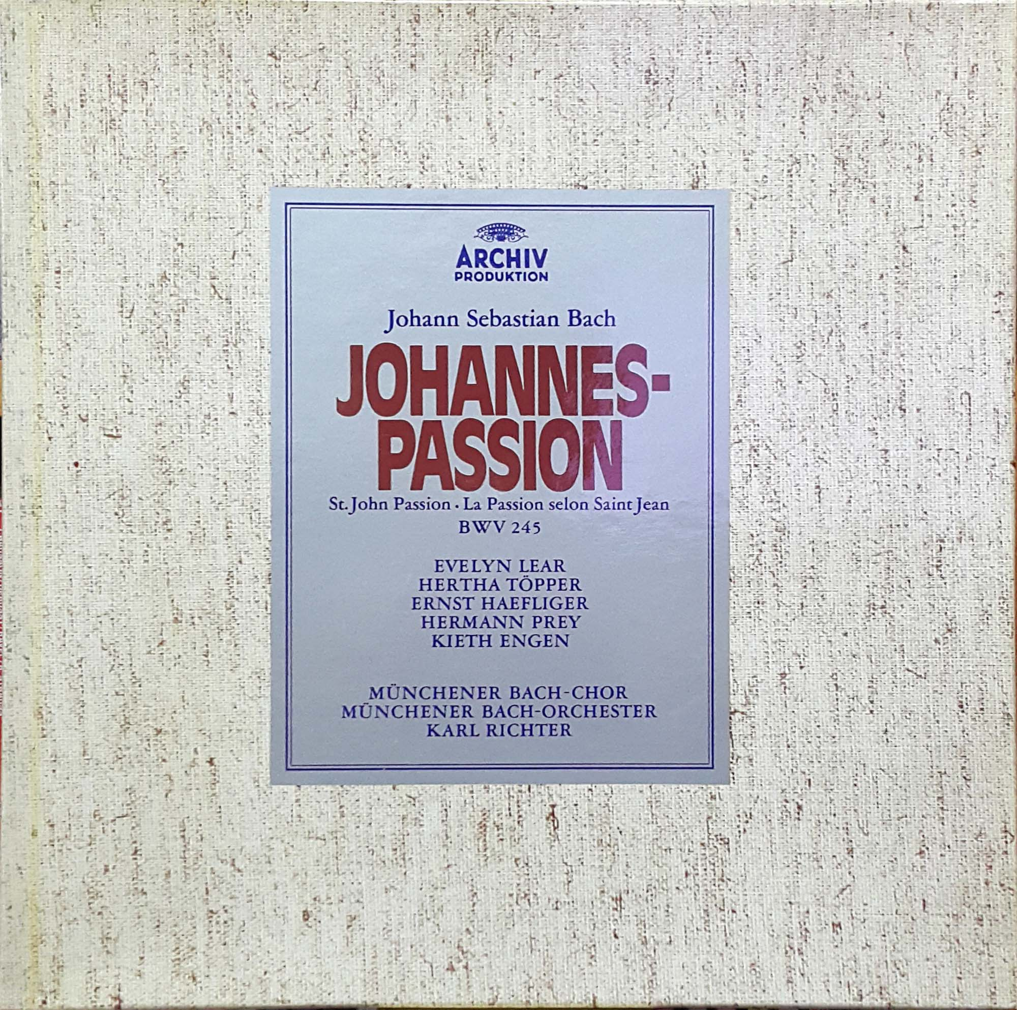 Karl Richter; Johannes-Passion, Mass in..