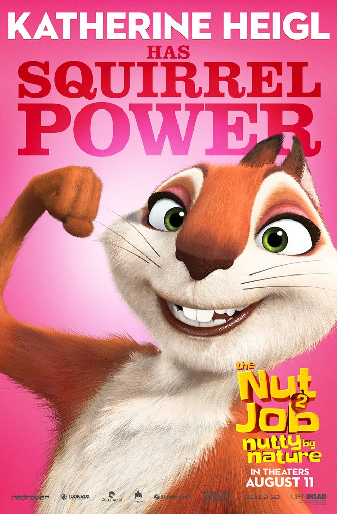 """THE NUT JOB 2: Nutty by Nature"" 포스터들입니다."