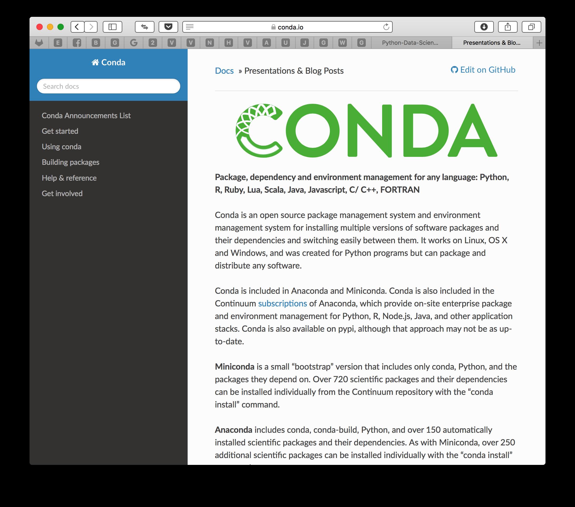 [Python] Conda에 대한 간단 고찰 및 mac에서..