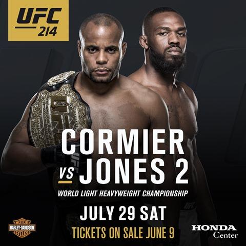 30일 예정된 UFC 214에서 존 존스 VS. 다니엘 코미어 ..