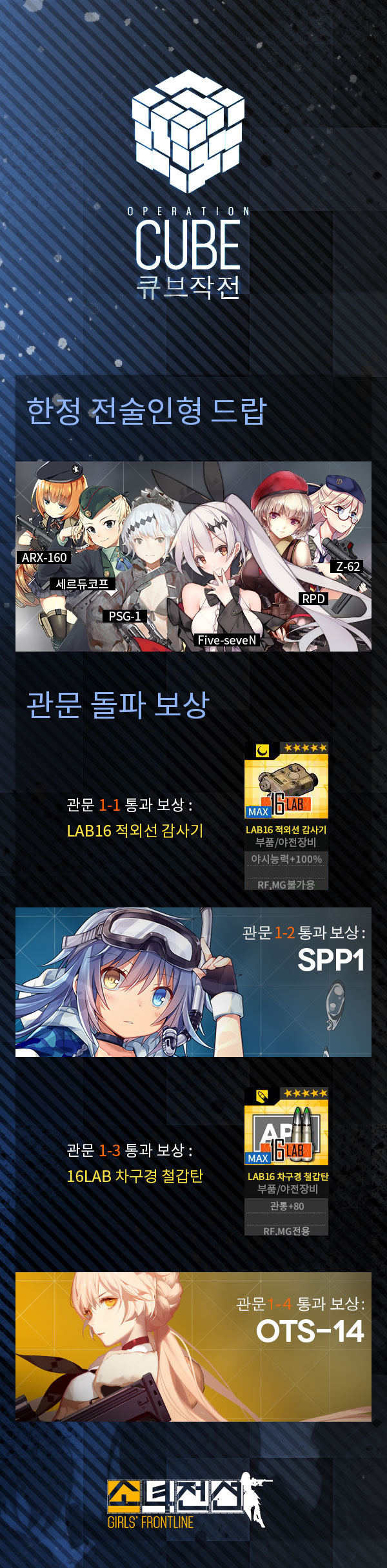 [소녀전선] 큐브 이벤트 예고