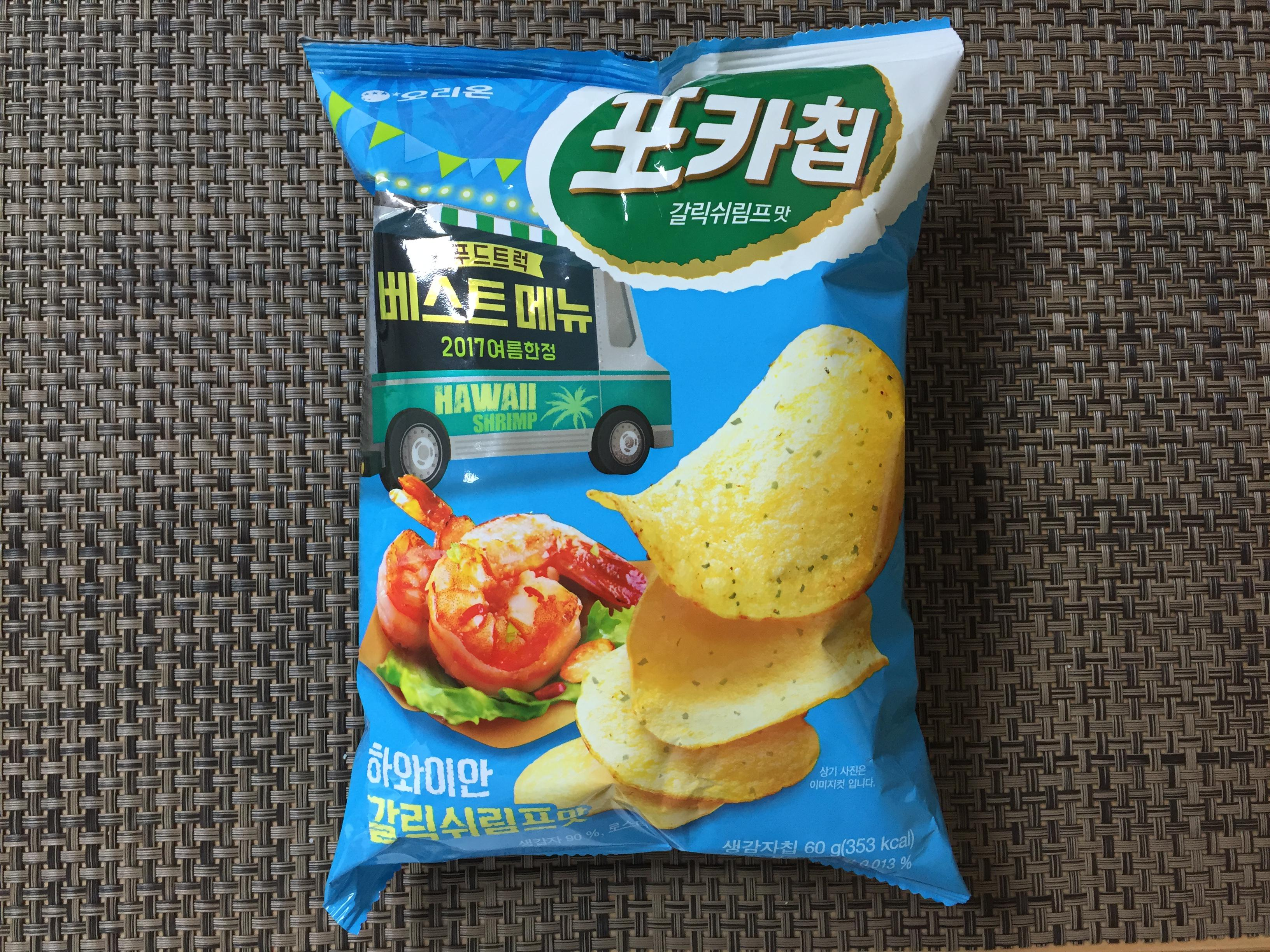 [오리온] 포카칩 하와이안 갈릭쉬림프 맛