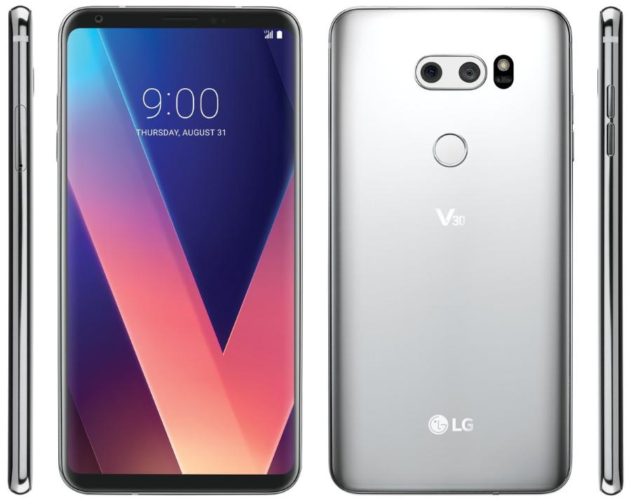 LG V30 공식 랜더링 이미지 유출