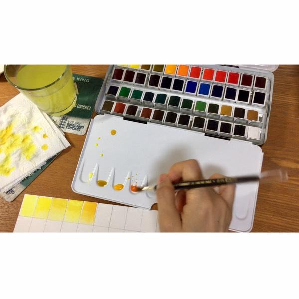 렘브란트 48색 물감 - 컬러차트 만들었다.