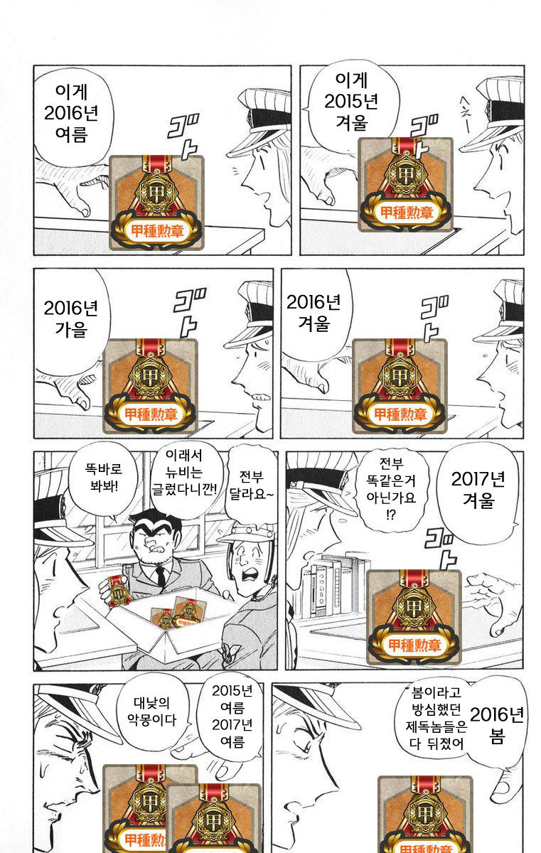 [번역] 갑종훈장의 차이