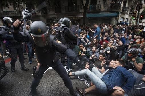 스페인 경찰의 카탈루냐 독립 탄압