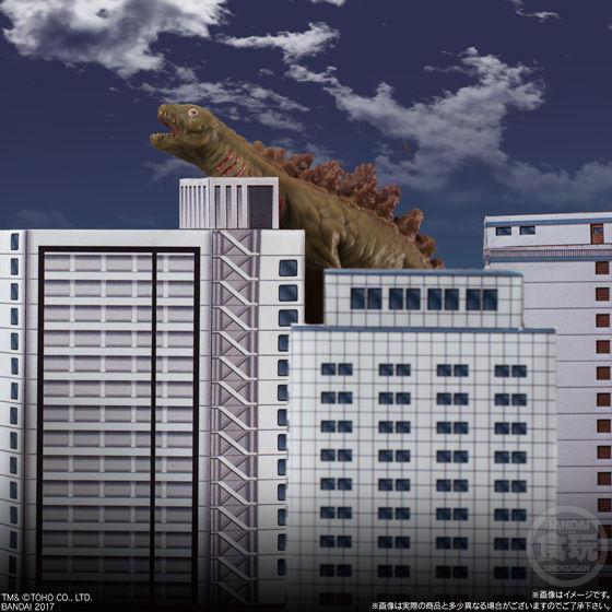 고질라 디오라마 빌딩 세트 페이퍼크래프트