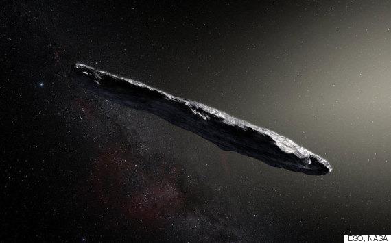 이 성간천체는 외계 우주선이라는 의심을 받고 있다