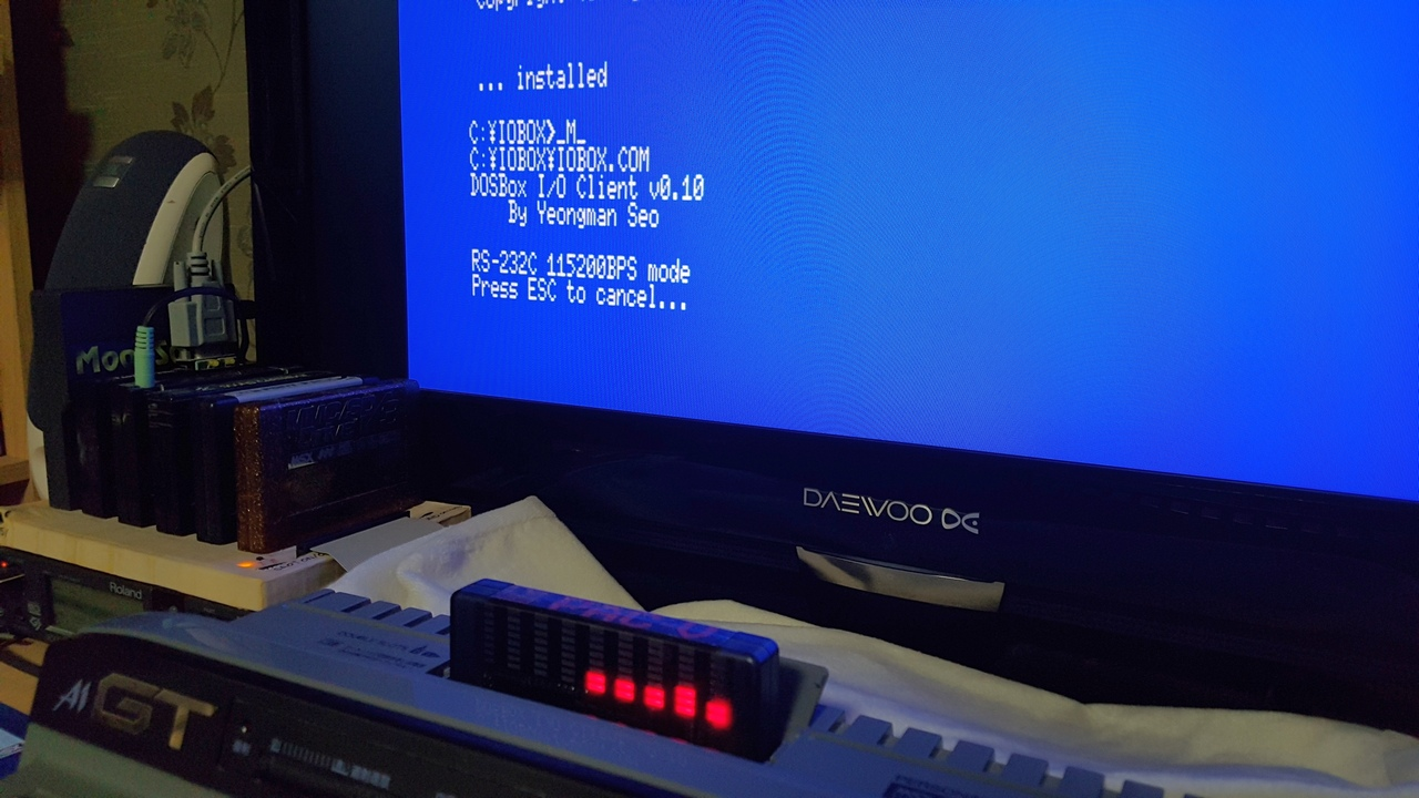 IOBox 제작 #1 - MoonSound를 DOSBox의 ..