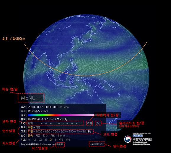 지구시스템 모델 기후 변화 시나리오 표출 시스템 (..