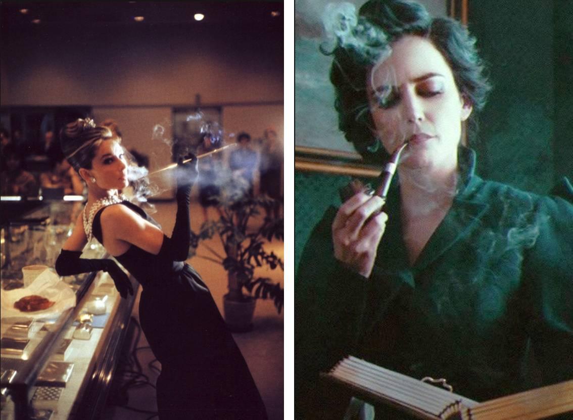 여배우의 흡연