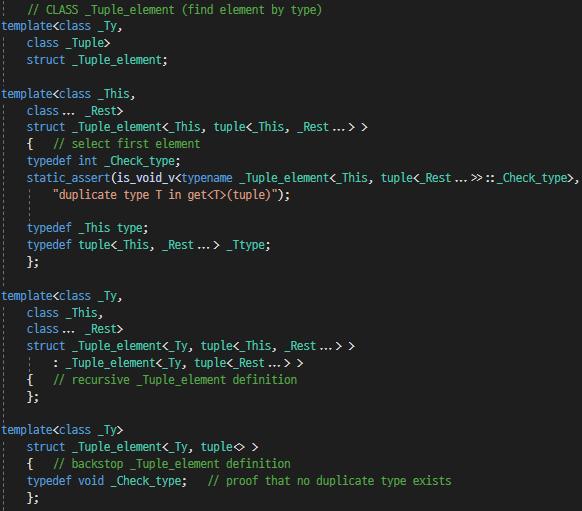[C++11] std::tuple의 std::get 함수에 대해 ..