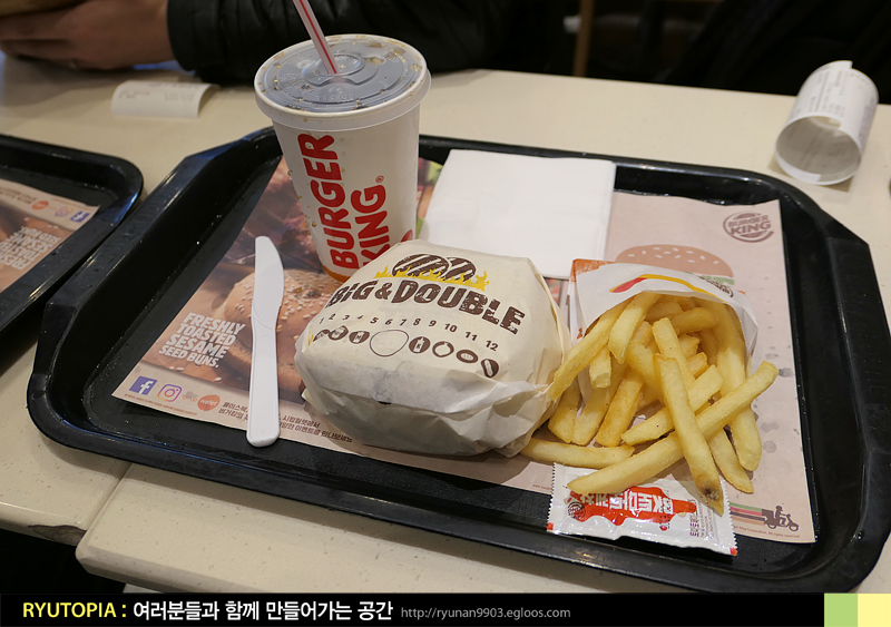 2018.3.14. 빅앤더블버거 & 더블 오리지널 치즈버..