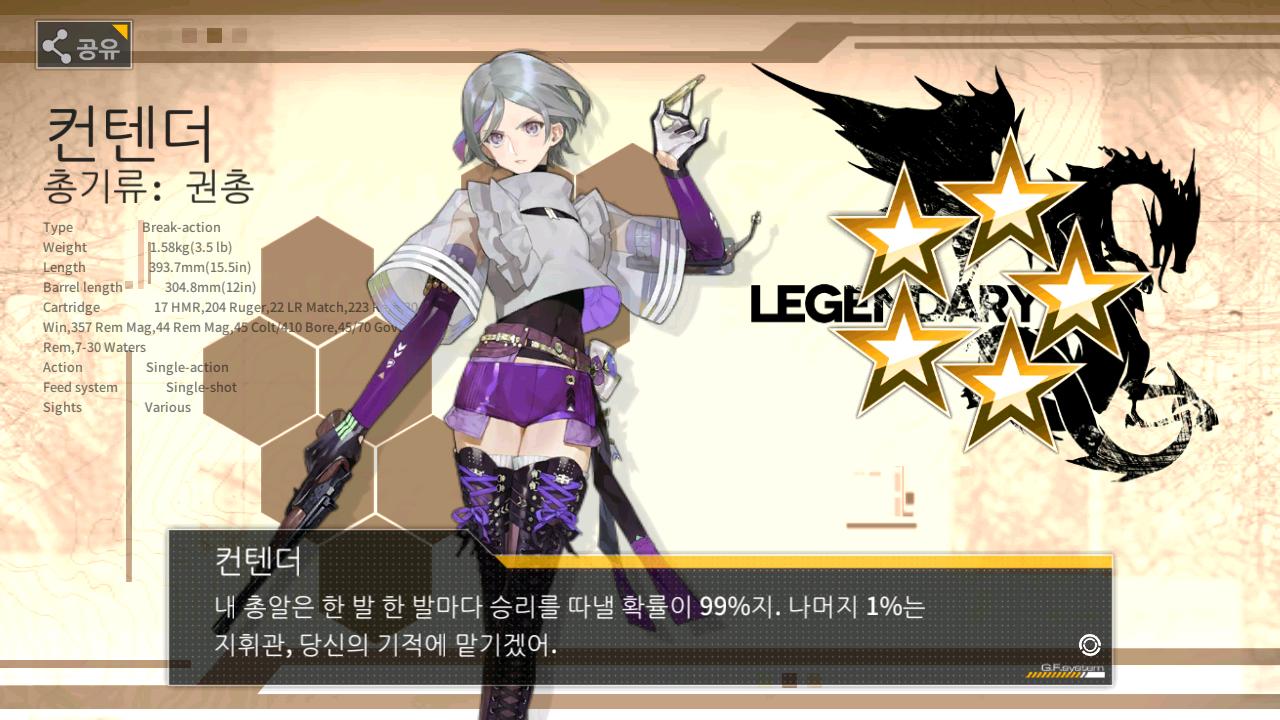 소녀전선 - 5성 권총 졸업