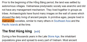 고대 베트남 모계사회와 서양이론