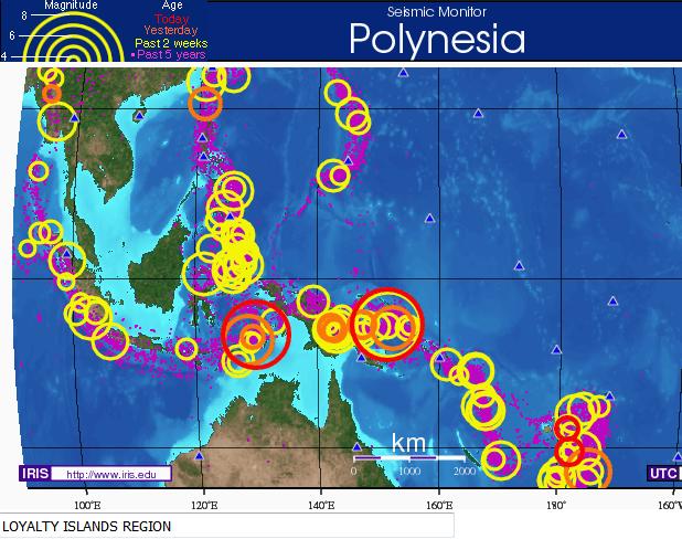 인도네시아 규모 6의 지진이 쌍으로