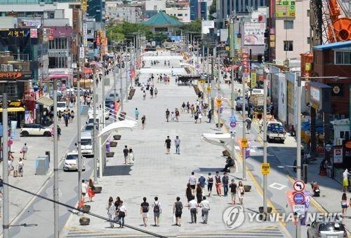 4월 해운대 구남로 문화광장 `음악 분수` 완공