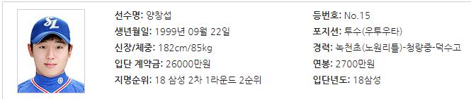 베테랑 같은 안정감으로 양창섭 프로 데뷔전 승리