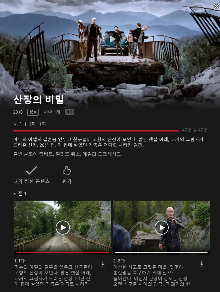 [넷플릭스] 산장의 비밀 - 시즌1 감상