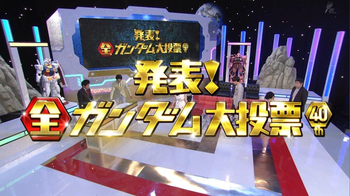 NHK BS 프리미엄 '발표! 전 건담 대투표' 간략 결과