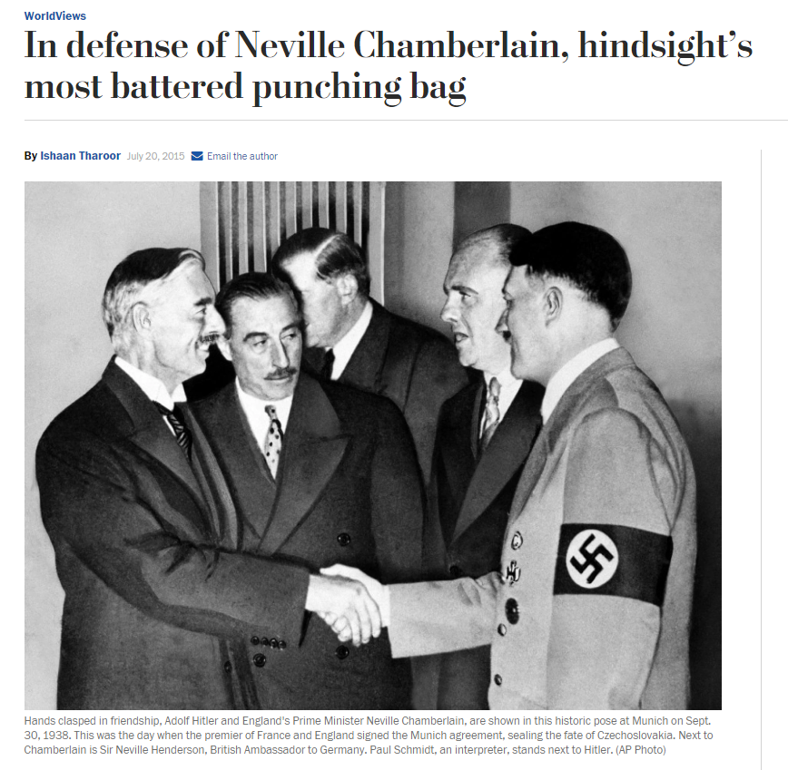 역사적 유추로서의 뮌헨 협정의 교훈은?