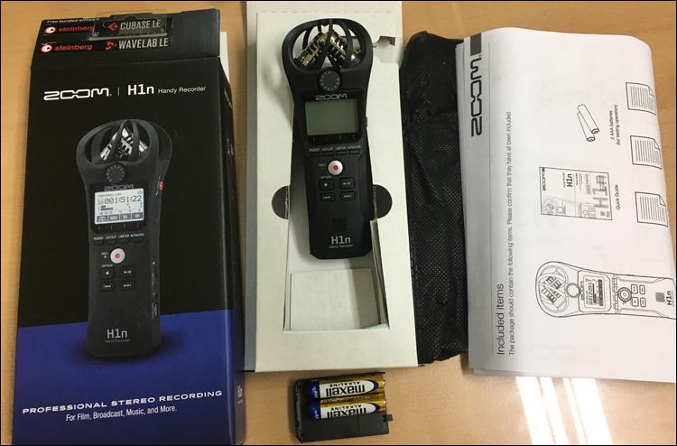 줌(Zoom) H1n 레코더 구성품 (메모리는 별매)