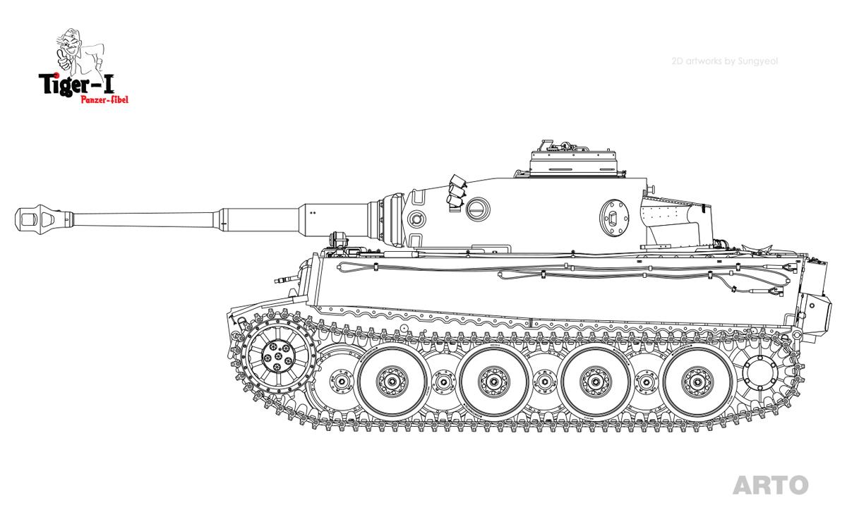 """s.Pz.Abt. 501 - 02  """" Tiger-I , 1942년 10월 생산형 """""""