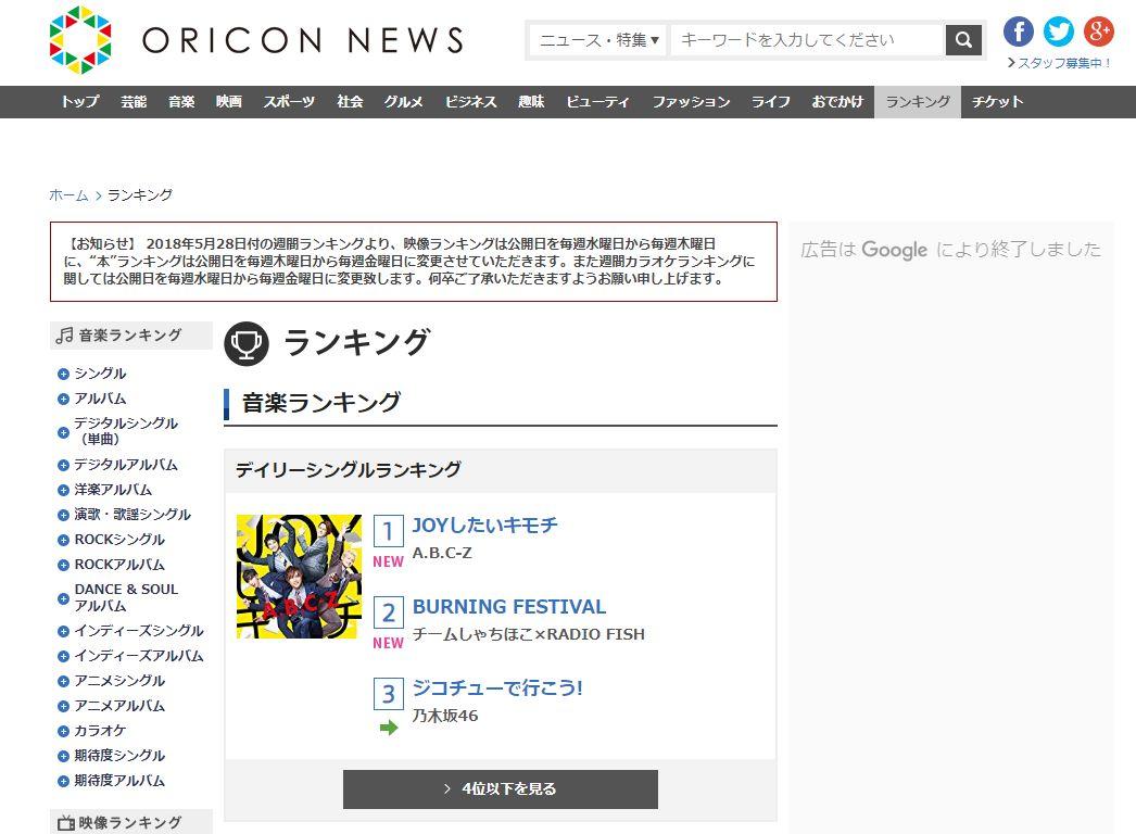일본의 오리콘이 CD + 디지털 + 스트리밍 등 3가지..
