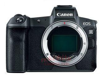 캐논 EOS R 및 렌즈 유출 이미지 및 사양