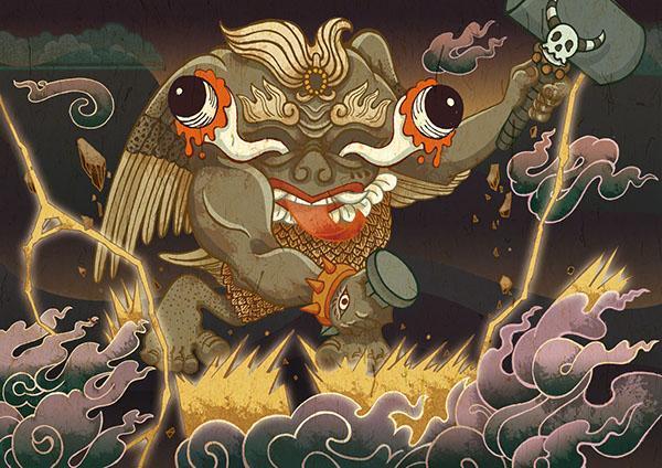 좡족의 천신이며 우레의 신 - 뇌왕(우레할망)