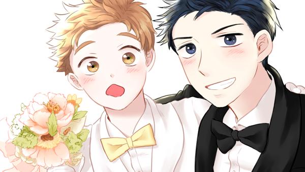 아베랑 미하시 결혼식 명함