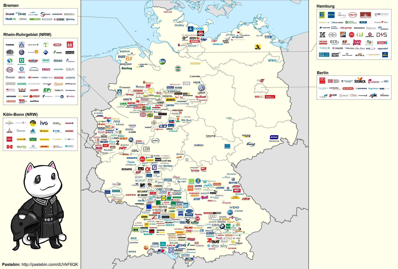 세계적인 독일 대기업(?)들의 본사 위치 현황