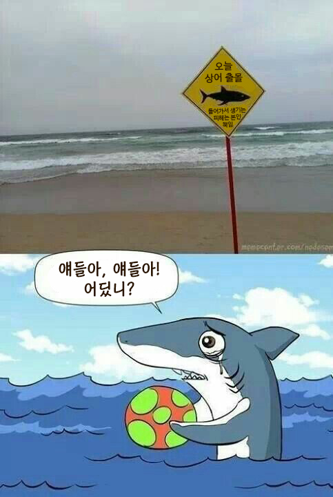 [번역] 상어 출몰 주의